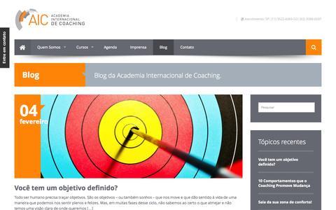 Screenshot of Blog aicoaching.com.br - Blog Archives   Academia Internacional de Coaching - captured Oct. 4, 2014