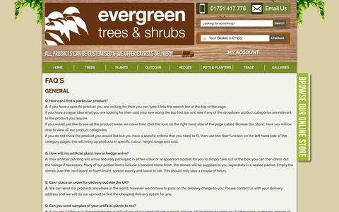 Screenshot of FAQ Page evergreendirect.co.uk - Evergreen Direct Buying Guides and Artificial FAQ - captured Nov. 4, 2014