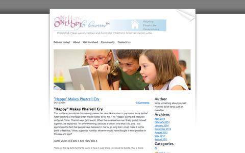 Screenshot of Blog onehopefortomorrow.org - One Hope for tomorrow.org - Blog - captured Nov. 5, 2014