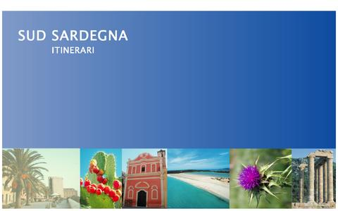 Screenshot of Home Page sudsardegnaitinerari.it - Sud Sardegna - captured May 31, 2016