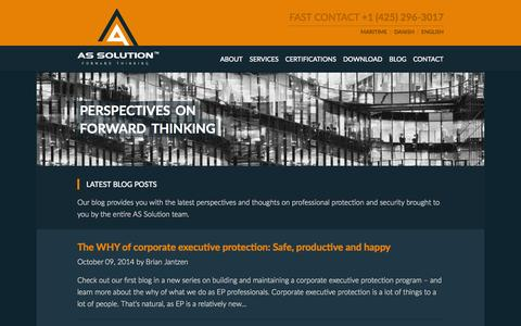 Screenshot of Blog assolution.com - Blog - AS Solution AS Solution - captured Oct. 29, 2014