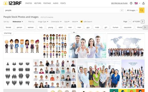 Screenshot of Team Page 123rf.com - People Stock Photos. Royalty Free People Images - captured Nov. 11, 2018