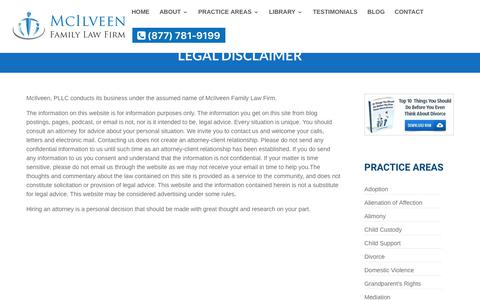 Legal Disclaimer | McIlveen Family Law Firm