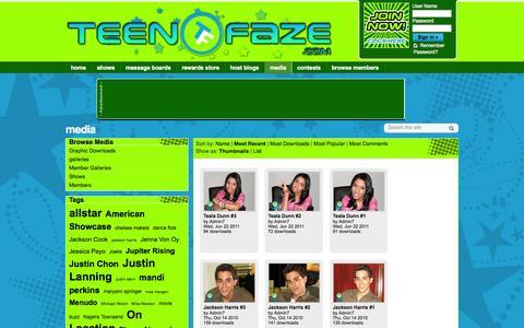 Screenshot of Press Page teenfaze.com - media - Teenfaze.com - captured Oct. 9, 2014