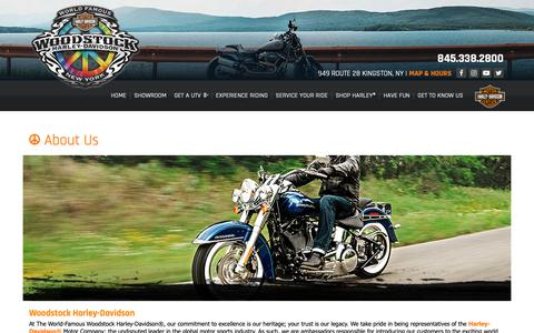 Screenshot of About Page woodstockharley.com - Dealership Information | Woodstock Harley-Davidson® | Kingston New York - captured Oct. 20, 2018