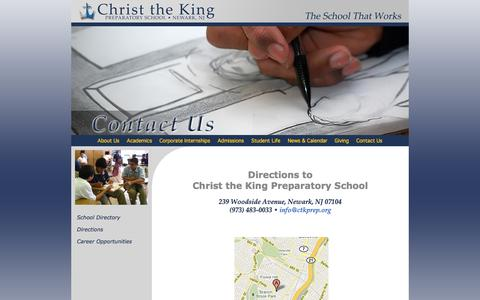 Screenshot of Maps & Directions Page ctkprep.org - Directions - Christ the King Prep, Newark's Cristo Rey School - captured Jan. 28, 2016