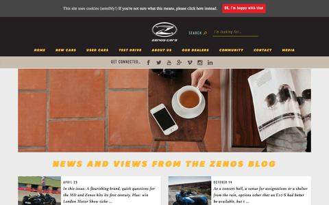 Screenshot of Blog zenoscars.com - Blog - Zenos Cars - captured Aug. 11, 2016