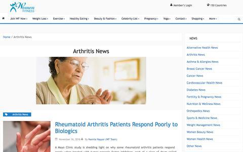 Arthritis News Archives - Women Fitness