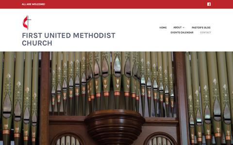 Screenshot of Contact Page wordpress.com - Contact Us – First United Methodist Church - captured April 18, 2017