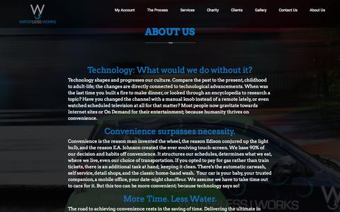 Screenshot of About Page waterless-works.com - Waterless Works | About us - Waterless Works - captured Oct. 29, 2014