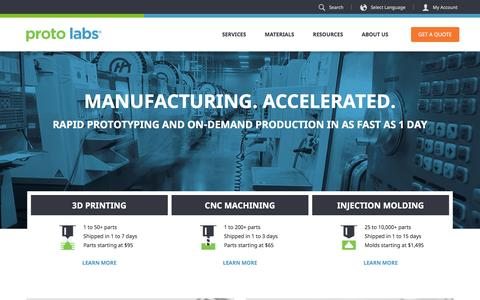 Proto Labs: 3D printing, CNC machining, and injection molding services