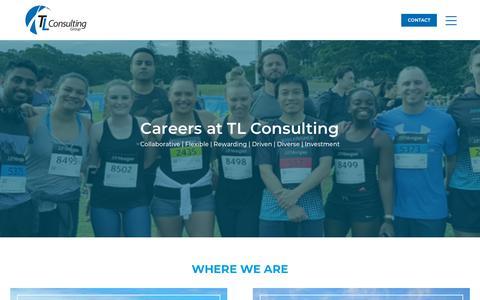 Screenshot of Jobs Page tlconsulting.com.au - TL Careers - Collaborative, Flexible, Rewarding, Driven & Diverse - captured Oct. 18, 2018