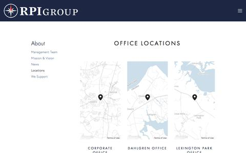Screenshot of Locations Page rpigroupinc.com - Locations — RPI Group Inc - captured June 15, 2017