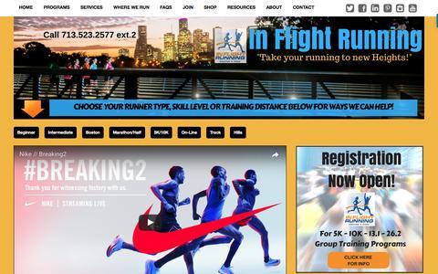 Screenshot of Blog inflightrunning.com - In Flight Running - Running Blog Articles To Help Your Running Soar! - captured May 27, 2017