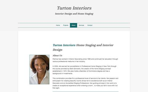 Screenshot of About Page turtoninteriors.com - About - captured Sept. 21, 2018
