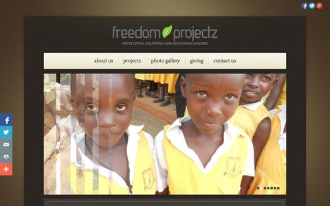 Screenshot of Home Page freedomprojectz.org - Freedom Projectz | Developing, equipping and releasing leaders - captured Sept. 30, 2014
