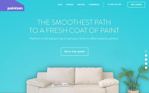 Screenshot of Home Page paintzen.com - Paintzen - captured July 18, 2015