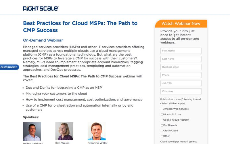 Best Practices for Cloud MSPs: The Path to CMP Success