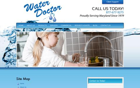 Screenshot of Site Map Page water-doctor.com - Water Doctor - captured June 11, 2017