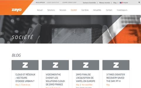Screenshot of Blog zayo.com - Blog | Zayo Group - captured June 5, 2017