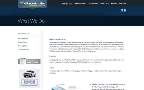 Screenshot of Services Page allianceautogas.com - Propane truck conversion, converting vehicles to propane | Alliance AutoGas - captured May 29, 2017