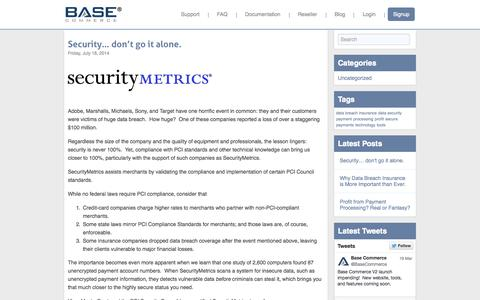 Screenshot of Blog basecommerce.com - Base Commerce - captured Sept. 30, 2014