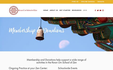 Screenshot of Signup Page kwanumzen.org - Membership in the Kwan Um School of Zen — Kwan Um School of Zen - captured Oct. 17, 2017