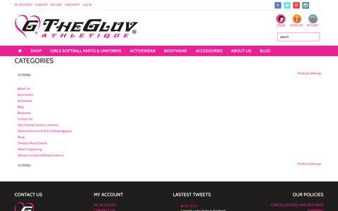 Screenshot of Site Map Page thegluvathletique.com - Site Map - captured Oct. 9, 2014
