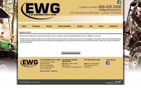Screenshot of Services Page golfcarsne.com - E W Gardner Golf Cars   Full service dealership in Exeter, RI. - captured Sept. 25, 2018