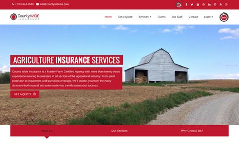 Screenshot of Home Page countywideins.com - County WIDE INSURANCE - captured Nov. 12, 2016