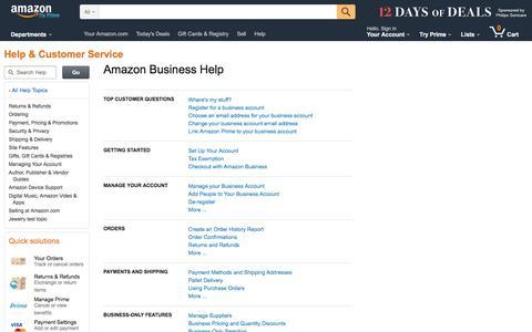 Screenshot of FAQ Page amazon.com - Amazon.com Help - captured Dec. 4, 2016