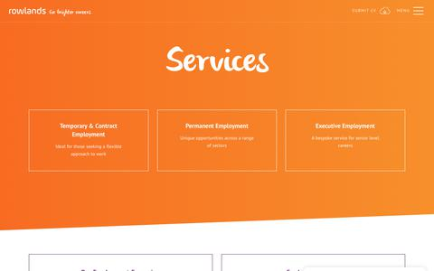 Screenshot of Services Page rowlands.co.uk - Services | Rowlands Recruitment - captured Nov. 19, 2018