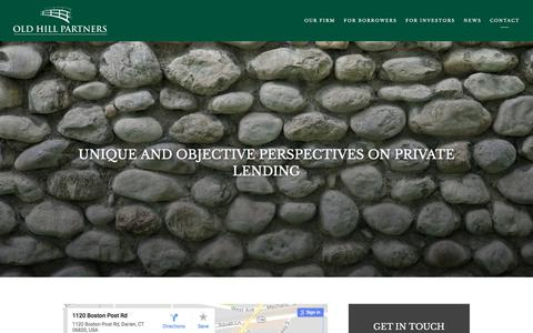 Screenshot of Contact Page oldhill.com - Darien, CT | Alternative Asset Management — Old Hill Partners - captured Nov. 13, 2017