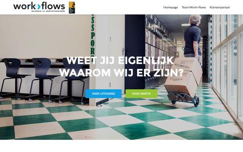 Screenshot of Home Page work-flows.nl - Work>Flows - captured Dec. 18, 2016