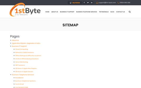 Screenshot of Site Map Page 1st-byte.com - Sitemap | 1st Byte: IT & Telecoms - captured Oct. 18, 2018