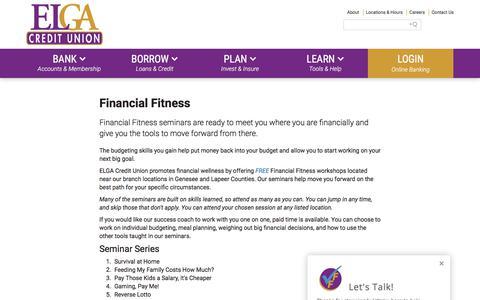 Screenshot of Signup Page elgacu.com - Learn : ELGA Credit Union - captured Sept. 26, 2018