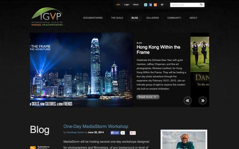 Screenshot of Blog visualpeacemakers.org - IGVP Blog | International Guild Of Visual Peacemakers - captured Oct. 6, 2014
