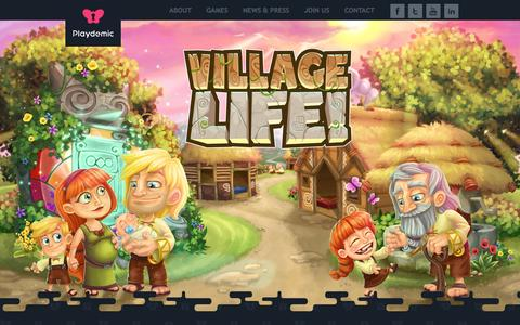 Screenshot of Home Page playdemic.com - Playdemic - Developer of hit social games including Village Life and Gourmet Ranch on Facebook - captured Sept. 29, 2014