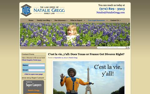 Screenshot of Blog nataliegregg.com - Blog | The Law Office of Natalie Gregg - captured Oct. 2, 2014