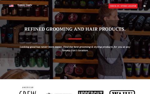 Screenshot of Products Page tommyguns.com - Products – Tommy Gun's Original Barbershop - captured Nov. 16, 2018