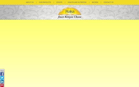 Screenshot of Home Page rakacheese.com - RAKA CHEESE | the Finest Kenyan Cheese | - captured Sept. 30, 2014