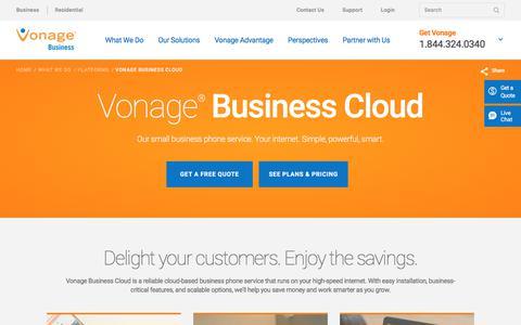 Small Business Phone Service: Vonage Business Cloud | Vonage Business