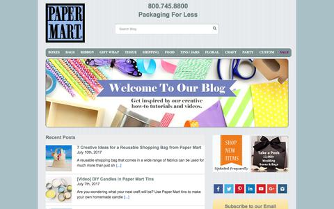 Screenshot of Blog papermart.com - Paper Mart Blog | Shipping, Packaging and Decorating | Papermart.com - captured July 14, 2017