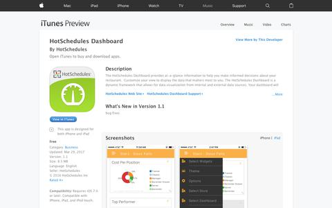 HotSchedules Dashboard on the App Store