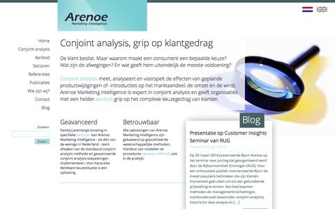 Screenshot of Home Page arenoe.nl - Home | | Arenoe.nl - captured Oct. 4, 2014