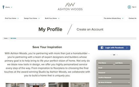 Screenshot of Login Page ashtonwoods.com - My Ashton Woods Profile | Ashton Woods - captured Oct. 4, 2018