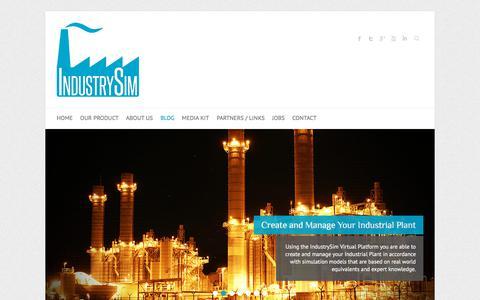 Screenshot of Blog industrysim.com - Blog | IndustrySim - captured Oct. 15, 2017