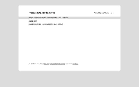 Screenshot of Site Map Page vanmetreproductions.com - Site Map | Van Metre Productions - captured Oct. 9, 2014