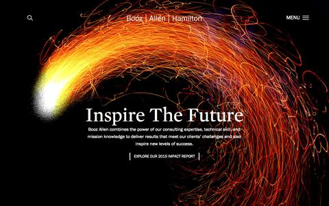 Screenshot of Home Page boozallen.com - Strategy and Technology Consulting Firm | Booz Allen Hamilton - captured Aug. 4, 2015