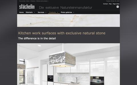 Screenshot of Products Page staechelin.de - KITCHEN WORK SURFACES WITH EXCLUSIVE NATURAL STONE THE DIFFERENCE IS IN THE DETAIL 2018 - captured Oct. 30, 2018